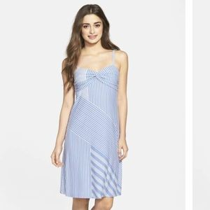 Tommy Bahama Blue Lucca Lines Print Jersey Dress